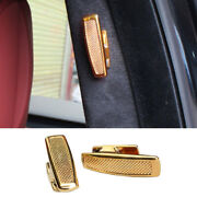 Sv Clothes And Hat Hook Cover Trim For Range Rover L405 13-20 Golden Zinc Alloy
