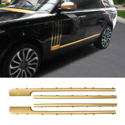 Golden Abs Door Body Side Molding Cover Trim Fit For Range Rover L405 2013-2020
