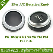 Set 2 Auto Climate Control Knob Buttom Repair Kit Fits For Bmw 5 6 7 X5 X6 Us