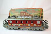 1950's Made In Japan Tin Friction Union Pacific Gg1 Type Train Engine With Box