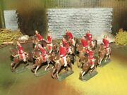 Rare Heyde Lead Toy Soldier Cavalry Lot On Horses Red Tunics- Wow