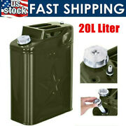 5 Gallon Gal 20l Liter Jerry Can Backup Steel Tank Fuel Gas Gasoline Green