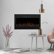 36 Recessed Electric Fireplace 1500w Adjustable Heatingtouch Screen Black
