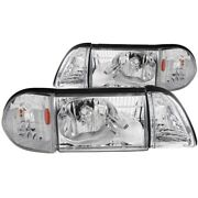 121195 Anzo Headlight Lamp Driver And Passenger Side New Lh Rh For Ford Mustang