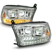 111465 Anzo Headlight Lamp Driver And Passenger Side New For Ram Truck Lh Rh 1500