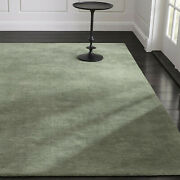 Area Rugs 9and039 X 12and039 Baxter Sage Green Hand Tufted Crate And Barrel Woolen Carpet