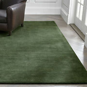 Area Rug 10and039 X 14and039 Baxter Bronze Green Hand Tufted Woolen Carpet