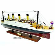 Handmade Rms Titanic Historical Model Cruise 1/330 Scale 32 Inch Colored Vessel