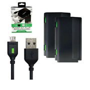 Microsoft Xbox One Pro Power Kit Plus Play And Charge W 2 Battery Nyko New