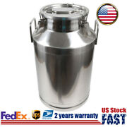 60l Barrel Milk Can Stainless Steel Pail Bucket Container Silicone Seal Storage