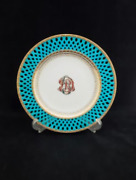 Old Minton Vintage Rare Flower Character Picture Plate 1867s-1880s Size 25cm