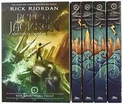 Percy Jackson And The Olympians 5 Book Paperback Boxed Set New Covers W/poster
