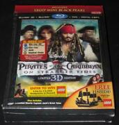 Blu-ray 3d Pirates Of The Caribbean Stranger Tides Target Lego Black Pearl New