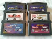 Lot Gameboy Advance Board Games, Monopoly, Life, Clue, Sorry, Memory, Trouble +
