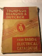 Rare Antique 1935 Thompson Diamond And Butcher Radioandelectrical Catalouge