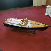 Chris Craft Wooden Classic Model Racing Boat Runabout Single Cockpit