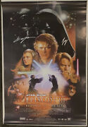 Ewan Mcgregor Hayden Christensen Signed Star Wars Sith Movie Poster Beckett Bas
