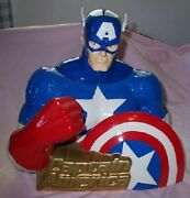 Captain America Cookie Jar Star Jars Limited Edition Marvel Comics New In Box