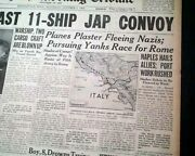 Naples Italy Captured By Allies 5th Army Invasion 1943 World War Ii Newspaper