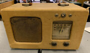 Vintage Philco Tweed 40-81 Portable Tube Radio For Parts Or Project