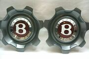 Set Of 2 Bentley Continental 21 Inch Flying Spur 7 Spoke Center Caps-3w0601171ae