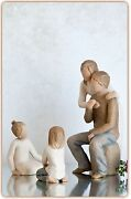 Willow Tree Figurines Set Mother And Father With Two Daughters Family Grouping