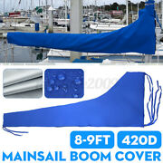 420d 8-9ft 3m Sailboat Cover Blue Sail Cover Mainsail Boom Waterproof Protection