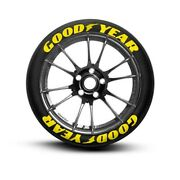 Full Yellow Good Year Permanent Tire Lettering Stickers1.25 14and039to22and039 Tires9pcs