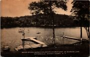 Postcard Ny Pottersville Marble Collegiate Church Camp On Schroon Lake 1944 M24