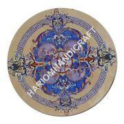 36 Unique Round Marble Table Top Mosaic Inlay Home Decors Furniture E1067a
