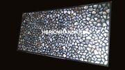 Marble Dinner Table Top Pauashell Stone Inlay Mosaic Real Collectible Decor M172