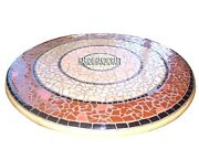 White Marble Dining Table Top Multi Mosaic Stone Inlaid Collectible Decor H3853