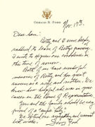 Gerald R. Ford - Autograph Letter Signed 11/17