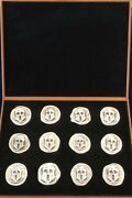 Very Rare Collection 12 Ancient Greek Coins Pure Silver 999 Only 1693 Copies