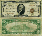 West Milton Oh 10 1929 T-1 National Bank Note Ch 9062 First Nb Fine