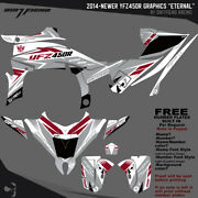 Yfz450r Graphics 2014-newer Dfr Eternal Gray Yamaha Red Sides Fenders