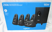 Logitech Z506 150w Surround Sound 5.1 Gaming Home Theater Speakers Black
