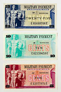 Set Of 3 Us Mpc Series 692 5 Cents Au+ ,10 Cents Abt. Xf, 25 Cents Abt. Xf-spot