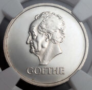 1932 Germany Weimar Republic. Proof Silver Goethe 3 Mark Coin. Ngc Pf-62
