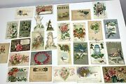 Lot Of 28 Vintage 1900andrsquos Christmas Easter And More Postcards Antique Collection