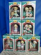 Christmas Precious Moments Lot Of 7 Home For Holidays Collection Ornaments New