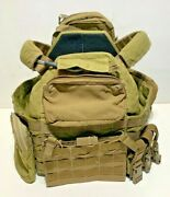 Custom Tactical Tailor Recon Plate Carrier W/ Pouches Sof Medium Coyote Brown