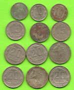 Russia Russland Lot Of 12 Coins 10.15 And 20 Kopeks 1931-57s 139