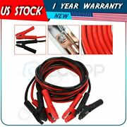 20 Ft 1 Gauge 1200amp Heavy Duty Power Booster Jumper Cables Emergency Car Truck