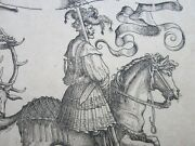 Hans Burgkmair 1473-1531, Old Master, Antique 18th Century Woodcut Print, Stag