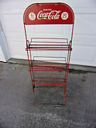 1930's Coca Cola Display Rack Topper Double Sided Sign 25 Cents A Six Pack