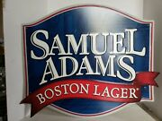 Samuel Adams Boston Lager Tin Wall Sign 2011 25 X 22 Man Cave Decor Beer Brewery