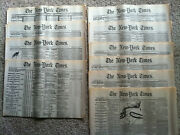 Vintage New York Times Newspapers Civil War 1861-1865 - Lot Of 10 Replicas