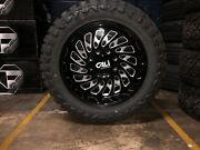 20x10 -25 Cali 9108 Switchback Wheels 33 Mt Tires Package 6x5.5 Chevy Gmc Tpms