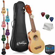 Soprano Ukulele Beginner Bundle Kit 21 Kids Starter Uke W/ Bag